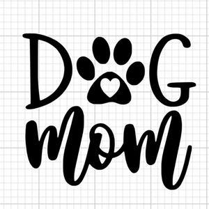 Dog mom decal